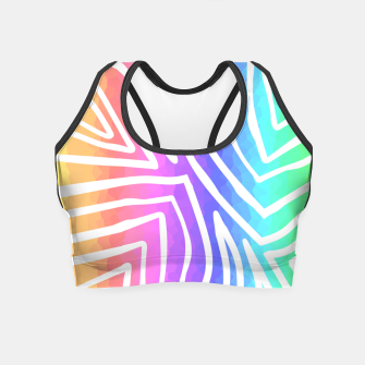 Thumbnail image of Flashy Zebra Stripes Crop Top, Live Heroes