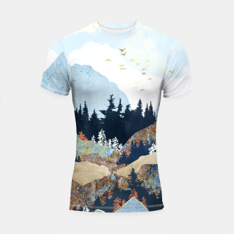 Thumbnail image of Spring Flight Shortsleeve rashguard, Live Heroes