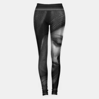 Thumbnail image of Mater Dolorosa Engraving After A Painting by Carlo Dolci Classical Art Portrait Reproduction Leggings, Live Heroes