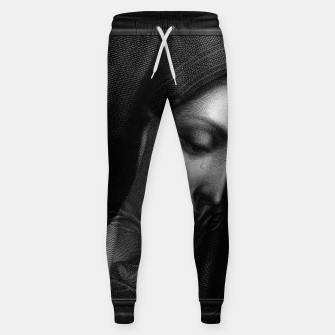 Thumbnail image of Mater Dolorosa Engraving After A Painting by Carlo Dolci Classical Art Portrait Reproduction Sweatpants, Live Heroes