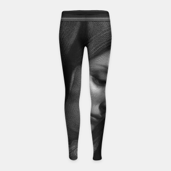 Thumbnail image of Mater Dolorosa Engraving After A Painting by Carlo Dolci Classical Art Portrait Reproduction Girl's leggings, Live Heroes