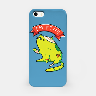 Miniature de image de Creepy Cute Zombie Cat, I'm Fine Typography, Halloween, Kawaii iPhone Case, Live Heroes