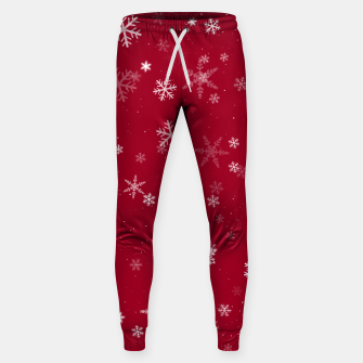 Thumbnail image of Red and White Snowflake Pattern Sweatpants, Live Heroes