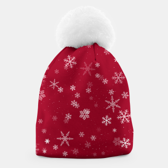 Thumbnail image of Red and White Snowflake Pattern Beanie, Live Heroes