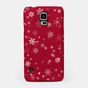 Thumbnail image of Red and White Snowflake Pattern Samsung Case, Live Heroes