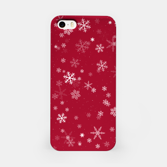 Thumbnail image of Red and White Snowflake Pattern iPhone Case, Live Heroes