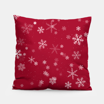 Miniatur Red and White Snowflake Pattern Pillow, Live Heroes