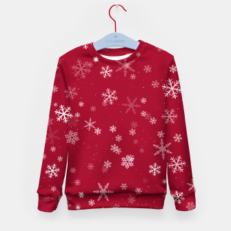 Thumbnail image of Red and White Snowflake Pattern Kid's sweater, Live Heroes
