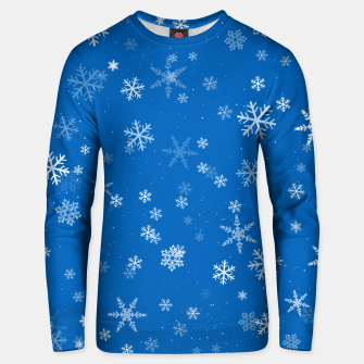 Thumbnail image of Blue and White Snowflake Pattern Unisex sweater, Live Heroes
