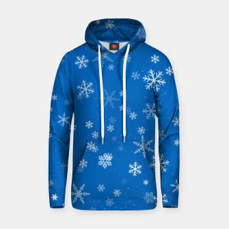 Thumbnail image of Blue and White Snowflake Pattern Hoodie, Live Heroes