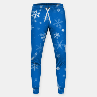Thumbnail image of Blue and White Snowflake Pattern Sweatpants, Live Heroes