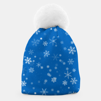 Thumbnail image of Blue and White Snowflake Pattern Beanie, Live Heroes