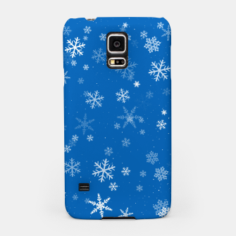 Thumbnail image of Blue and White Snowflake Pattern Samsung Case, Live Heroes