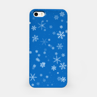 Thumbnail image of Blue and White Snowflake Pattern iPhone Case, Live Heroes