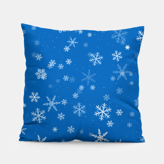 Thumbnail image of Blue and White Snowflake Pattern Pillow, Live Heroes