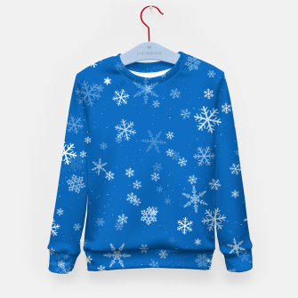 Thumbnail image of Blue and White Snowflake Pattern Kid's sweater, Live Heroes