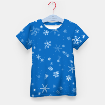 Thumbnail image of Blue and White Snowflake Pattern Kid's t-shirt, Live Heroes