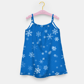 Thumbnail image of Blue and White Snowflake Pattern Girl's dress, Live Heroes