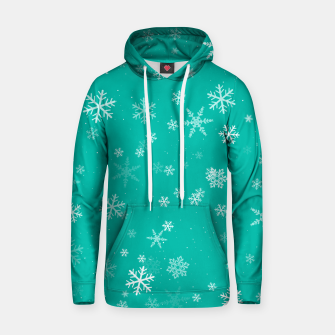 Thumbnail image of Green and White Snowflake Pattern Hoodie, Live Heroes