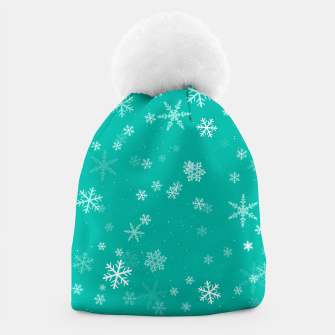Thumbnail image of Green and White Snowflake Pattern Beanie, Live Heroes