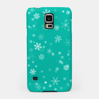 Thumbnail image of Green and White Snowflake Pattern Samsung Case, Live Heroes