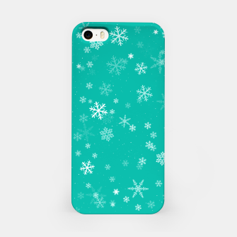 Thumbnail image of Green and White Snowflake Pattern iPhone Case, Live Heroes