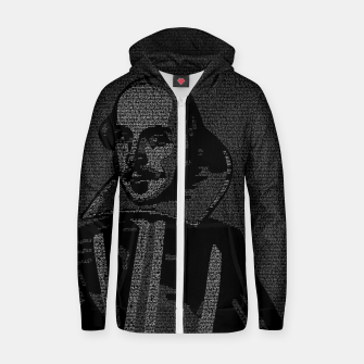 Thumbnail image of Shakespeare Midsummer Night's Typography Portrait Zip up hoodie, Live Heroes