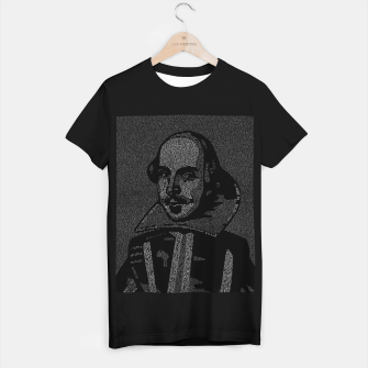 Thumbnail image of Shakespeare Midsummer Night's Typography Portrait T-shirt regular, Live Heroes