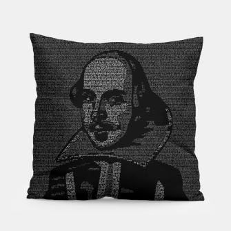 Thumbnail image of Shakespeare Midsummer Night's Typography Portrait Pillow, Live Heroes