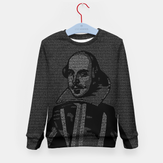 Thumbnail image of Shakespeare Midsummer Night's Typography Portrait Kid's sweater, Live Heroes