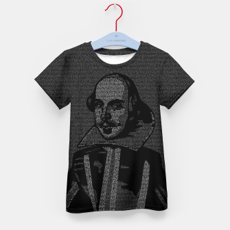 Thumbnail image of Shakespeare Midsummer Night's Typography Portrait Kid's t-shirt, Live Heroes