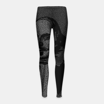Thumbnail image of Shakespeare Midsummer Night's Typography Portrait Girl's leggings, Live Heroes