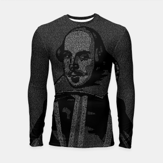 Thumbnail image of Shakespeare Midsummer Night's Typography Portrait Longsleeve rashguard , Live Heroes