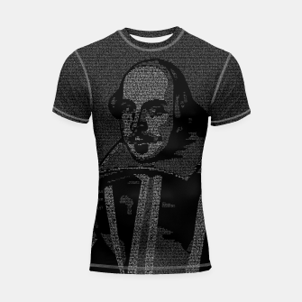 Thumbnail image of Shakespeare Midsummer Night's Typography Portrait Shortsleeve rashguard, Live Heroes
