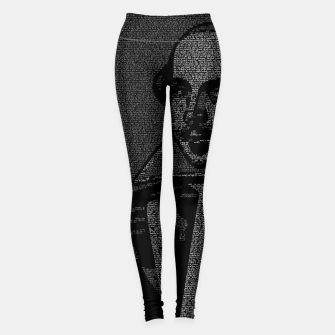 Thumbnail image of Shakespeare Midsummer Night's Typography Portrait Leggings, Live Heroes