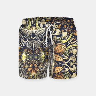 Miniatur Owl Washed Swim Shorts, Live Heroes