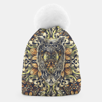 Miniatur Owl Washed Beanie, Live Heroes
