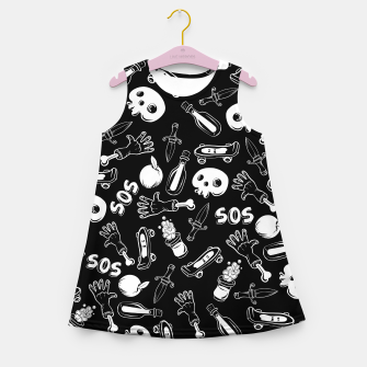 Miniatur Cool Stuff Girl's summer dress, Live Heroes