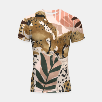 Thumbnail image of Cheetahs in love  Shortsleeve rashguard, Live Heroes