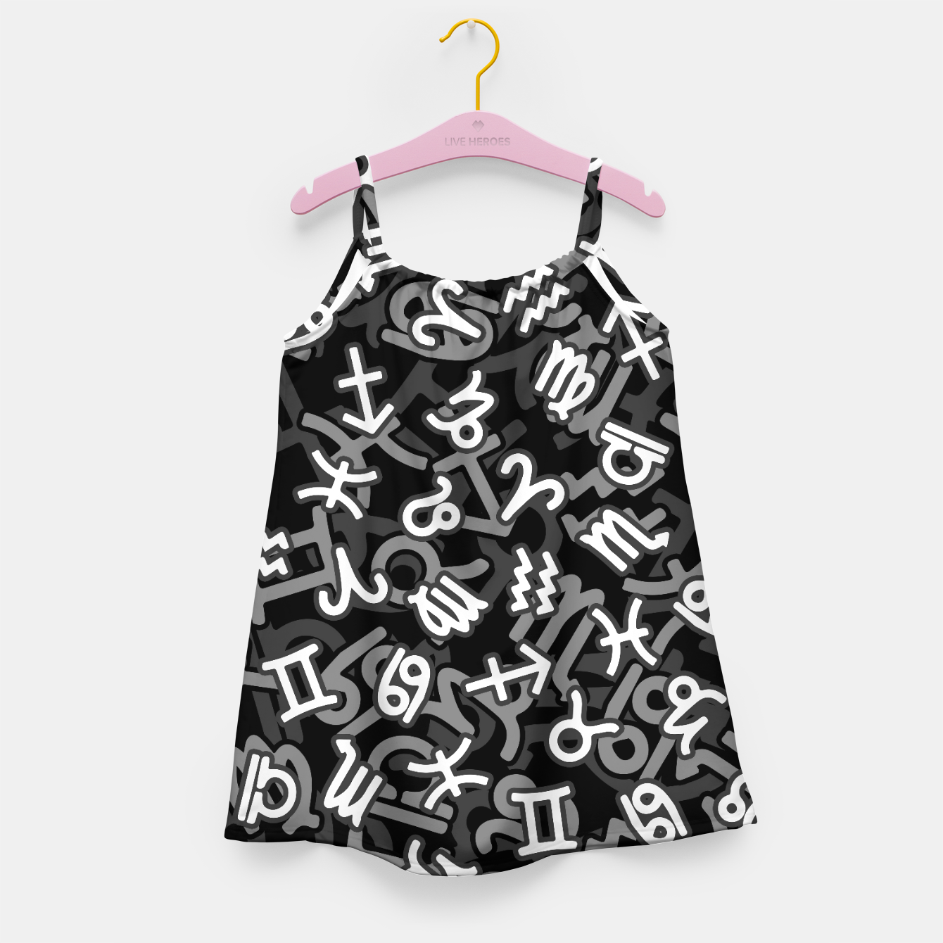 Image of Astrology Zodiac Star Signs Camo Girl's dress - Live Heroes