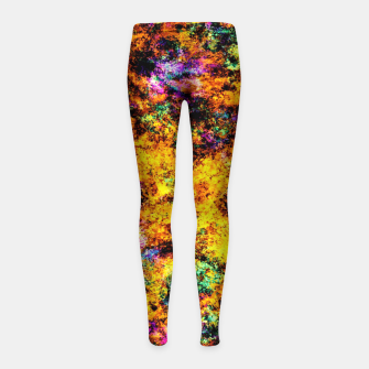 Thumbnail image of Hot yellow Girl's leggings, Live Heroes