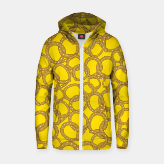 Thumbnail image of Pretzels With Mustard Zip up hoodie, Live Heroes