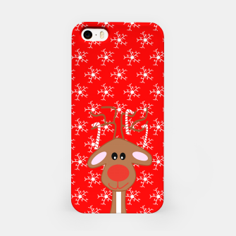 Miniatur Festive Red Nose Reindeer iPhone Case, Live Heroes