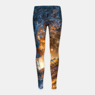 Thumbnail image of The Voyage Begins Girl's leggings, Live Heroes