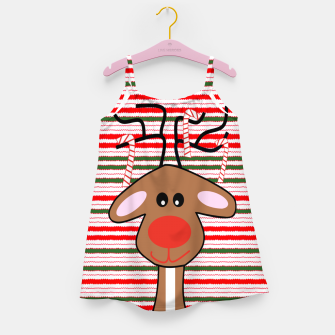 Imagen en miniatura de Christmas Colors Reindeer Girl's dress, Live Heroes