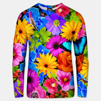 Miniaturka Colorful Kawaii Flower and Butterfly Unisex sweater, Live Heroes