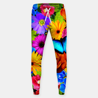 Miniatur Colorful Kawaii Flower and Butterfly Sweatpants, Live Heroes