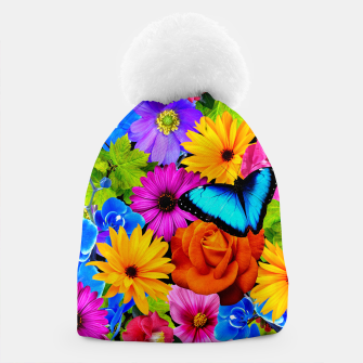 Miniatur Colorful Kawaii Flower and Butterfly Beanie, Live Heroes