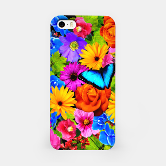 Miniatur Colorful Kawaii Flower and Butterfly iPhone Case, Live Heroes