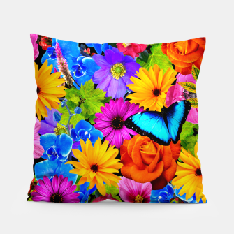 Miniatur Colorful Kawaii Flower and Butterfly Pillow, Live Heroes